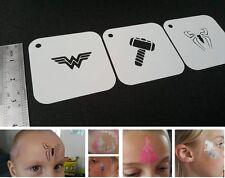 Bambini Face Painting Supereroe Set di stencil 3pcs Wonder Woman Thor Uomo Ragno