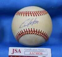 BO JACKSON JSA Autograph American League OAL Hand Signed BasebaLL