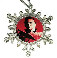Halloween Michael Myers Snowflake Color Lights Holiday Christmas Tree Ornament