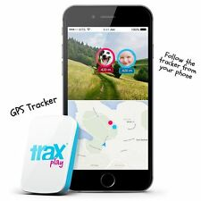 Trax Play - The worlds smallest and lightest Real-Time GPS tracker[blue]