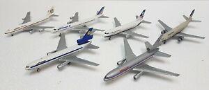 Modellini Die cast 1/500 Aereo di linea varie livree: Lufthansa American British