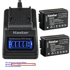 Kastar Battery LCD Quick Charger for Panasonic DMW-BMB9 Panasonic Lumix DC-FZ80
