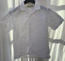 Universal works seersucker camp collar shirt.large white