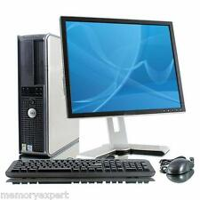 "DELL OPTIPLEX 760 PC 6 GHZ 2X3 GHZ CORE 2 DUO 250 GB 4GB WI-FI 19"" MONITOR DVD"