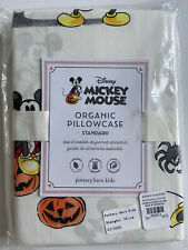 POTTERY BARN KIDS DISNEY MICKEY MOUSE HALLOWEEN STD PILLOWCASE NEW ORGANIC NWT