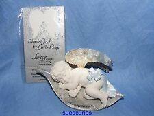 Little Things Mean A Lot Cherub It's A Boy New Baby Gift Present Ornament Figure