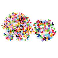 600 Pièces Assortiment de Feutre de Couleur Boules Pompon Boules pour DIY