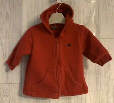 Boys Age 0-3 Months - Benetton Hooded Zip Up Top