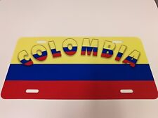 COLOMBIA Metal  License Plate Cover with Design