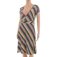 Viscose Regular Size Striped Sundresses for Women