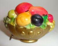 Vintage Celluloid Figural Fruit Basket Tape Measure