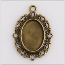 22 Photo Frame Cameo Setting Bronze Plated Jewelry Making Findings EIF0340
