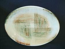 Vintage 50s Vernon Veronware Raffia HandPainted Oval Platter California Pottery