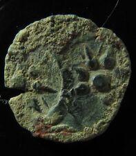 Judaea, Alexander Jannaeus, AE Prutah. Double struck! EB09