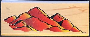 Inkadinkado Mountain Range Rubber Stamp