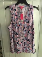 NWT Lilly Pulitzer Essie Top High Tide It's For Shore  XL