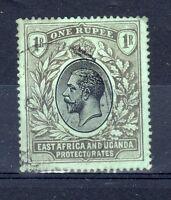 Kenya, Uganda and Tanganyika 1912 1r on emerald back FU CDS