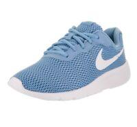 Nike Tanjun sneakers shoes size 4.5 Youth girl (women's size 6) blue/white