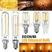 Dimmable E12 E14 G9 1W/2W Tubular Refrigerator COB LED Filament Light Bulb Lamp