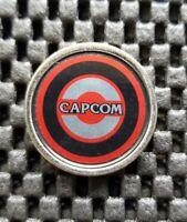 Vintage Capcom Logo Arcade Chip Prize Coin token Medal Rare Retro Metal +Plastic