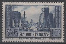 "FRANCE STAMP TIMBRE 261 "" PORT LA ROCHELLE 10F BLEU TYPE III "" NEUF xx LUXE N448"