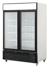 New 2 Double Door Glass Front Reach In Freezer Merchandiser Commercial MCF8712