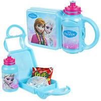 Disney Frozen Personaje de niña Fiambrera Sandwich Food Bolsa Botella Almacenaje