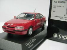 WOW EXTREMELY RARE Opel Calibra 2.0i 16V 1990 Red 1:43 Minichamps-OPC/GT/RS/RSR