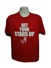 Fairfield University Get Your Stags Up Adult Large Red TShirt