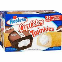 Hostess Twinkies & Cupcakes (16 Twinkies & 16 Cupcakes), Ind. Wrapped, 32 Total