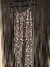 H&M Midi Dress Tribal Print Hippy Vest Festival Holiday Paisley Beach Pattern