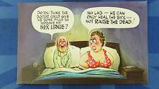 A Bamforth Comic Postcard 1970s DOCTOR SEX DRIVE BBW FAT LADY Big Boobs FF 036