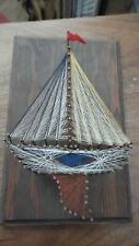 Sail Boat String and Nail Art Mid Century Modern Vintage