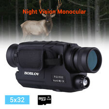 5x32 Optics 16GB Infrared IR Night Vision Monocular for Hunting Outdoor Camping