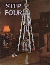 vintage double hängelampe makramee tisch & pflanzen hänger muster schritt vier book s4