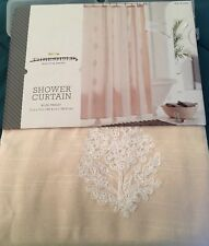 Threshold Blush Paisley White Embroidered Floral Shower Curtain New