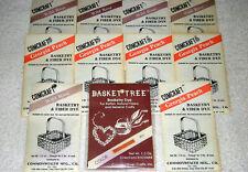 Lot Of 11 Vintage Basketry & Fiber Reed Dye Wild Rose Georgia Peach & Rust