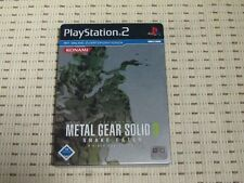 METAL GEAR SOLID 3 SNAKE EATER STEELBOOK per PlayStation 2 ps2 PS 2 * OVP *