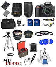 Nikon D5500 Black DSLR Camera w/ VR 18-55mm +  70-300G + 32GB VALUE BUNDLE