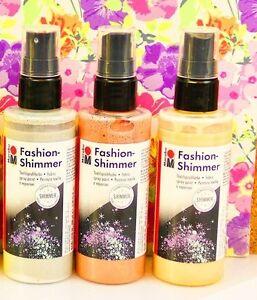 MARABU FASHION SHIMMER SPRAY PAINT Fabric Colour Art & Craft Textile - 100ml