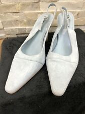 Laura Ashley Ladies Size 36 UK 3 Light Blue Pointed Toe Strappy Heel Suede Shoes