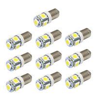 10 x T11 BA9S White 5 LED 5050 SMD Car Wedge Side Light Lamp Bulb 12V Tide