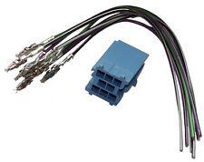 Connecteur fiche bleue précâblée mini ISO 8PIN pour autoradio