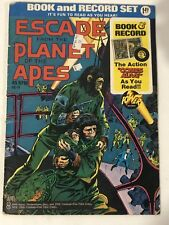 Vintage 1974 Escape From the Planet of the Apes Book and Record Set Power 45 Rpm