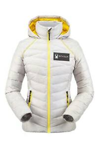 Spyder Women's U.S. Ski Team Timeless Down Jacket, Maverick Gray, Size XS