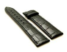 Zenith Genuine Alligator Leather Strap Black crocodile Watch Band 21 x 18 mm
