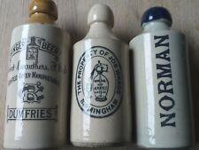 Vintage ginger beer bottles Dumfries. Birmingham. Norman.