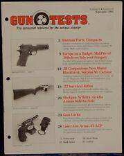 Magazine GUN TESTS Sep 1993 MARLIN 70P Papoose RIFLE, BERETTA Model 96 Centurion