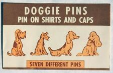 Esa0731. Vintage: Doggie Pins Vending Machine Original Advertisement Piece ~