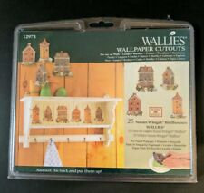 Susan Winget set of 25 Bird Houses Wallies Wallpaper Cutouts Gardening Country